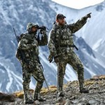 Pointing out Bull Tahr in the NZ Alps