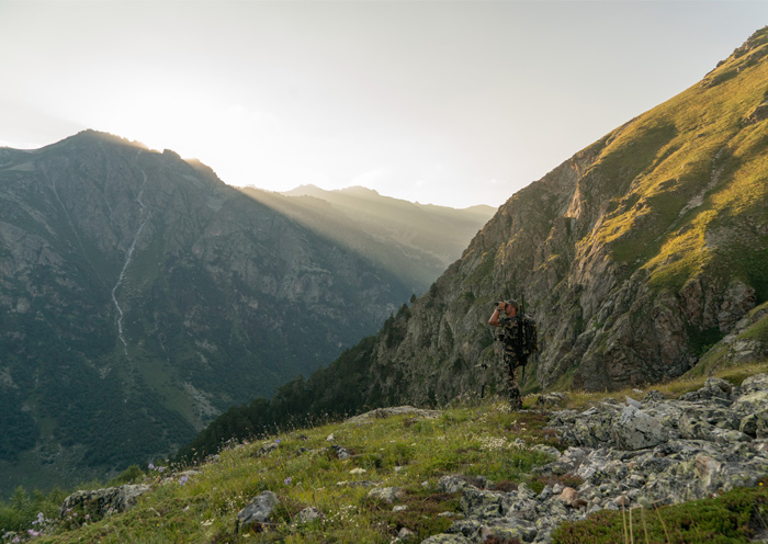Hunting Kuban Tur in the Caucasus Mountains
