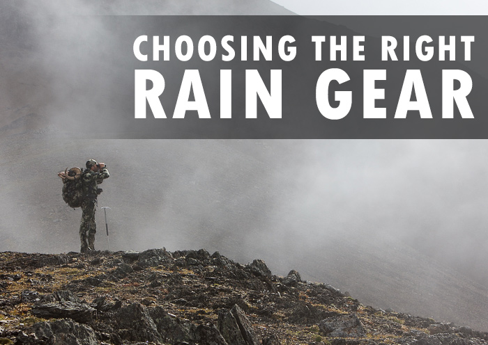 Choosing The Right Rain Gear